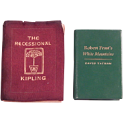 Two Miniature books:  Frost and Kipling