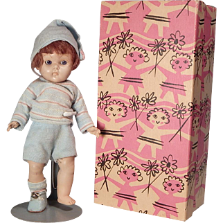 Nice Early Strung Bunky doll by Vogue with a Ginny box