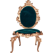 Nice gilt Spielwaren chair for your Barbie sized dolls.