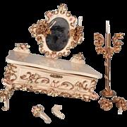 Box lot of Spielwaren furniture for parts or repair