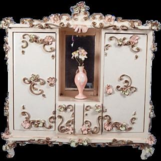 Wonderful Spielwaren Wardrobe complete with vase