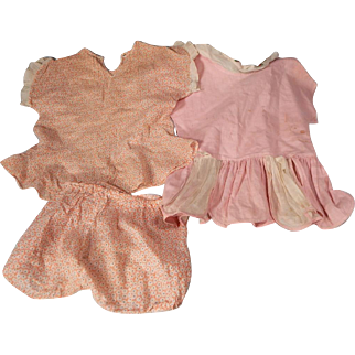 Two Very Cute vintage Baby Dresses for large Baby dolls.