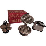 Wonder miniature toaster, waffle maker and fan for your doll house or doll