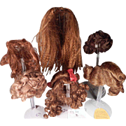 Assorted Synthetic wigs for doll making/repair