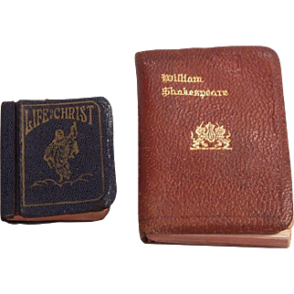 Vintage Shakespeare and Life of Christ tiny books for your Doll