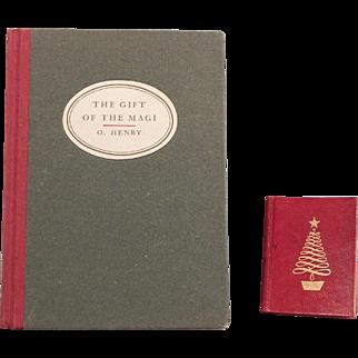 Two Cute miniature Christmas books