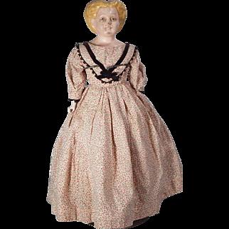Nice little Sonneburg type papier mache Doll