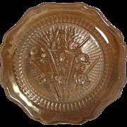 Vintage Jeannette Iris and Herringbone Plate