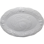 Vintage A. Santos #8102 White Turkey Platter.