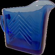 Vintage Hazel Atlas Cobalt Blue Creamer