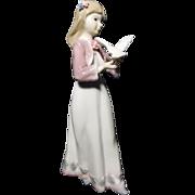 Vintage Mallorca Spanish Porcelain Girl Figurine