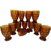 Vintage Heisey Designed Provincial Tumblers (12) by Imperial Glass Corporation