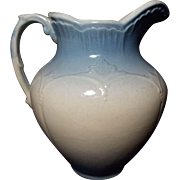 JBP 688 Vintage Blue and White Salt Glaze Stoneware Pitcher