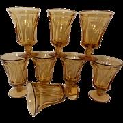 Vintage Fostoria Jamestown  Honey Amber Stemware (8 stems)