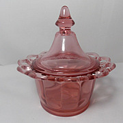 Vintage Imperial Glass Co. Lace Edge Small Compote or Candy Dish