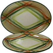 Beautiful Vintage California Pottery Platters Tam O'Shanter Pattern