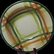 Beautiful Vintage California Pottery Vegetable Bowl Tam O'Shanter Pattern