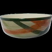 Beautiful Vintage California Pottery Small Flat Bowl Tam O'Shanter Pattern