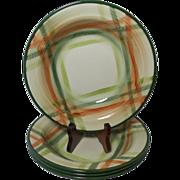 Beautiful Vintage California Pottery Salad Bowls (4) Tam O'Shanter Pattern