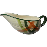 Beautiful Vintage California Pottery Gravy Boat Tam O'Shanter Pattern