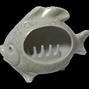 Porcelain Smoker Fish Ashtray