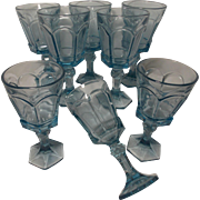 Fostoria Virginia sapphire blue water  or wine Glasses