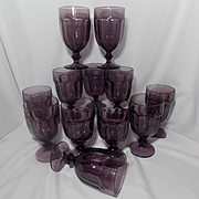 Vintage Libbey Amethyst Gibralter Duratuff Water Goblets