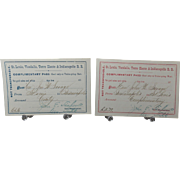 Complimentary 1875 Rail Road Passes for St. Louis to Indianapolis