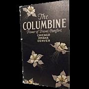 "Train Travel Pamphlet ""The COLUMBINE Flower of Travel Comfort"""