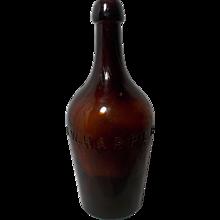 Hand Blown I. W. Harper Whiskey Bottle