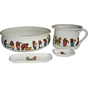 Sale!  Villeroy & Boch Mettlach Children's Bath & Bedroom Set, C 1920