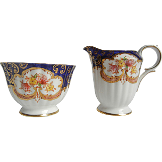 "Gorgeous Royal Stafford Sugar & Creamer in ""Heritage"""