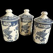 Three Canister Set for Coffee Tea & Sugar