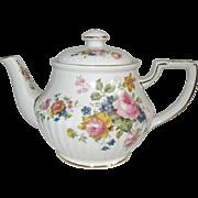 Gorgeous Sadler Vintage English Teapot with Lovely Flower Medley