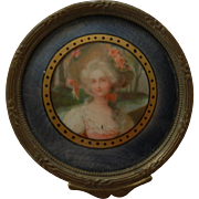 Sweet Little Vintage Dresser Box with Portrait Print of a Lovely Lady