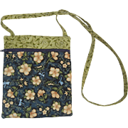 Charming Vintage Small Cross Body Bag with Flowers & Dragonflies