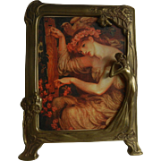 Awesome Vintage Art Nouveau Style Brass Frame for Picture or Mirror
