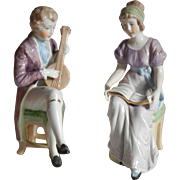Charming Vintage Pair of Figurines in the Jane Eyre Style