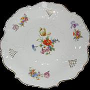 Beautiful German Steinmann Tiefenfurt Hand Painted Large Plate