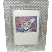 Gorgeous Heavy Cut Glass Picture Frame - Red Tag Sale Item