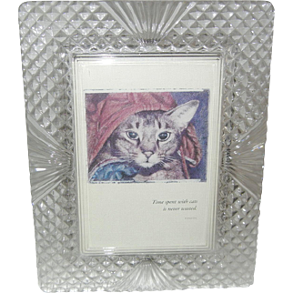 Gorgeous Heavy Cut Glass Picture Frame