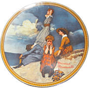 """Waiting on the Shore"" by Norman Rockwell, Edwin M Knowles Collector Plate"