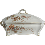 Victorian Ridgways Buckingham Pattern Serving Dish/Tureen with Cover
