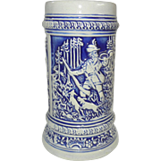 Pretty Vintage German Stein Blue on Pale Gray
