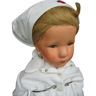 Kathe Kruse doll 8 as nurse in W.O 1 21 inches or 52 cm.