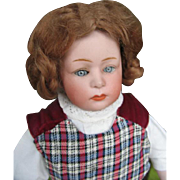 Heubach schoulderhead doll pink inside 15 1/2 inches or 39 cm.