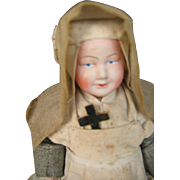 Petit Collin celluloid all original French nun. 8 inches or 20 cm.