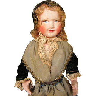 Petit Collin celluloid all original French traditional costume. 12 inches or 30 cm.