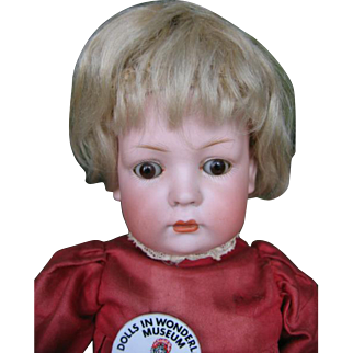 Baer & Prochild closed mouth character doll ,toddler body. 14 1/2 inches or 36 cm.