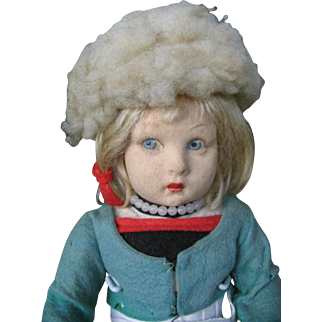 Lenci doll Dutch girl  with wooden shoe's 15 inches or 36 cm.